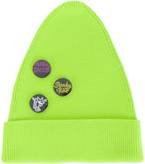 Marc Jacobs button badge beanie - men - Polyester/Virgin Wool - S