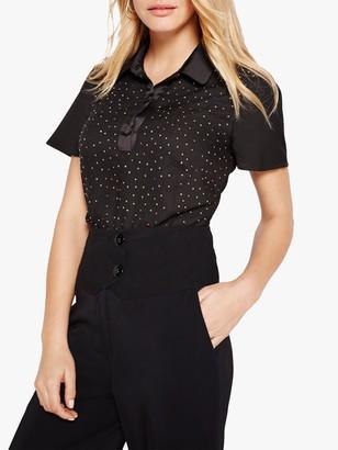 Damsel in a Dress Fenton Stud Blouse, Black