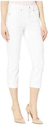 NYDJ Chloe Capri Jeans in Optic White (Optic White) Women's Jeans