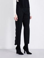 Limi Feu Embellished cropped wool-twill trousers