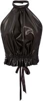 Rodarte Black Leather Halter Top
