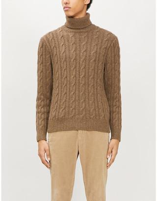 Ralph Lauren Purple Label Turtleneck cable-knit cashmere jumper