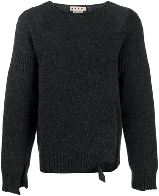 Marni Distressed Effect Knitted Jumper