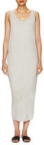 Helmut Lang Feathered Midi Jersey Dress