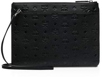 MCM Klara Monogrammed Leather Crossbody