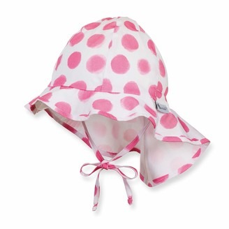 Sterntaler Girls Sun Hat with Ties Neck Protection and dotted pattern Age: 9-12 months Size: 47 Pink (Orchid)