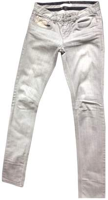 Chevignon Grey Cotton Trousers for Women