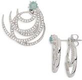 Nadri Women's Wishes Two-Piece Drop Back Earrings