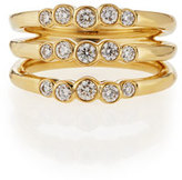 Ippolita 18k Glamazon Stardust Diamond Triple Starlet Ring