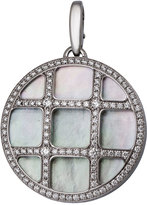 Cartier Estate Pasha 18k Mother-of-Pearl & Diamond Pendant Enhancer