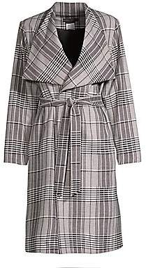 Alice + Olivia Women's Ginny Plaid Wrap Jacket