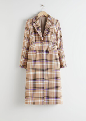 And other stories Hourglass Plaid Check Coat