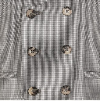River Island Boys Check Double Breasted Check Waistcoat - Grey