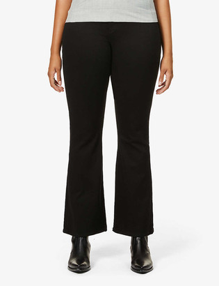 Good American Good Flare high-rise jeans