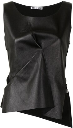 Maticevski Aligned leather tank top