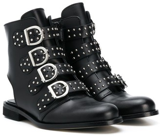 Gallucci Kids Studded-Straps Ankle Boots