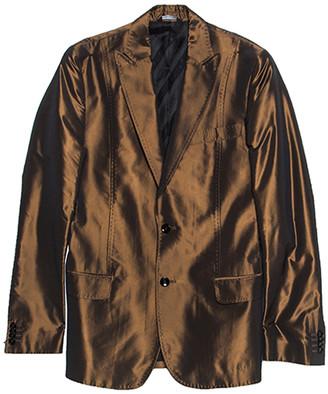 Dolce & Gabbana Metallic Brown Double Buttoned Blazer S