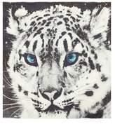 Qasmyr Hand Woven Blue Eyed Leopard Print Cashmere Shawl.