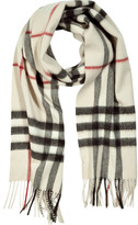 Burberry Cashmere Giant Check Scarf in Trench Check