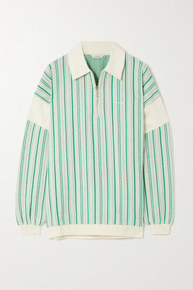 HOLZWEILER Lunden Striped Cotton-blend Sweater - Green
