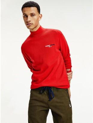 Tommy Hilfiger Organic Cotton Turtleneck Logo Sweater