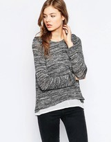 B.young Long Sleeve Gray Marl T-Shirt