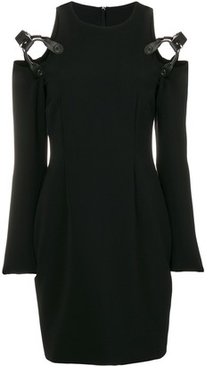 Moschino Harness Cold Shoulder Mini Dress