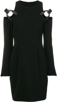 Moschino harness cold shoulder mini dress