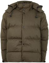 Bellfield Khaki Hooded Puffer Jacket