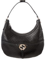 Gucci Perforated Reins Hobo