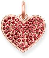 Thomas Sabo Love Coin Red Zirconia Pavé Heart Pendant