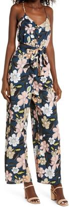 Chelsea28 Floral Wide Leg Jumpsuit