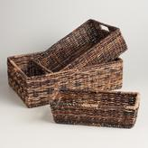 Cost Plus World Market Madras Storage Baskets