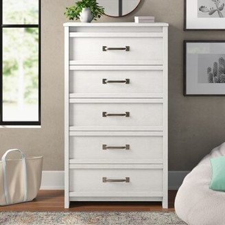 Three Posts Teen Millom 5 Drawer Chest Color: Ivory Oak