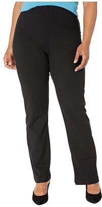 Lysse Plus Size Tara Bootcut Cotton Leggings (Black) Women's Casual Pants