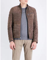 Michael Kors Quilted suede puffer jacket