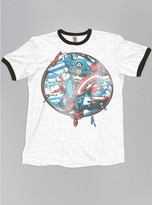 Junk Food Clothing Kids Boys Captain America Tee-ew/bw-m