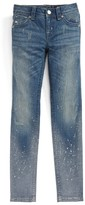 Miss Me Girl's Splashed Skinny Jeans