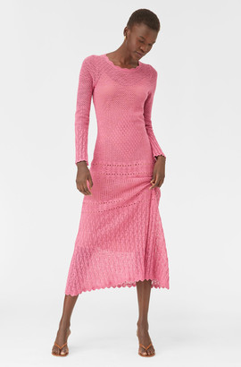 Rebecca Taylor Sheer Pointelle Dress