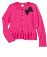 Kate Spade Toddler Girl's Peplum Cardigan