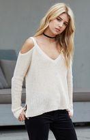 La Hearts Easy Cold Shoulder Pullover Sweater