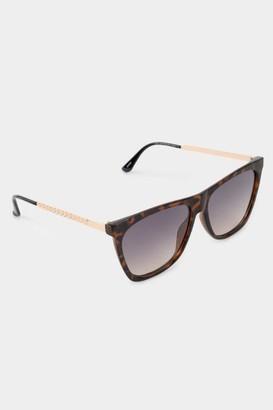 francesca's Juniper Square Tort Sunglasses - Tortoise