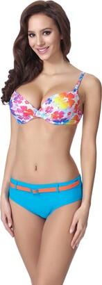 Merry Style Women's Push-up Bikini F23 (Pattern-312 EU Cup 85B / Bottom 42 = UK (Cup 38B / Bottom 14))