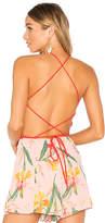 Privacy Please Amble Bodysuit in Orange. - size M (also in S)