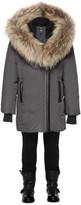Mackage Leelee-T Charcoal Winter Down Coat With Fur Hood (2-6 Yrs)