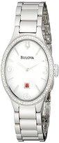 Bulova Women's 96R192 Analog Display Analog Quartz Silver Watch