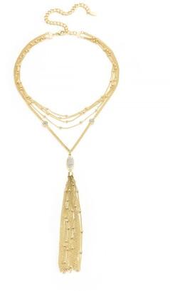 Ettika Multi Chain Gold Tassel Necklace