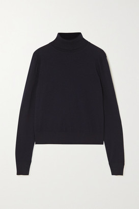 The Row Chanic Merino Wool And Cashmere-blend Turtleneck Sweater - Navy