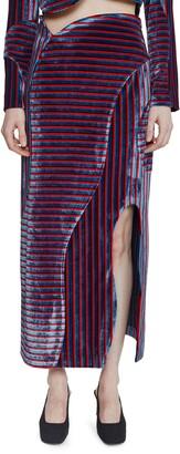 Eckhaus Latta Stripe Cutout Skirt