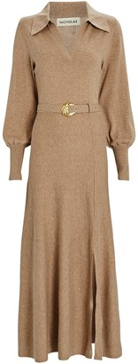 Nicholas Katya Cotton-Wool Maxi Sweater Dress